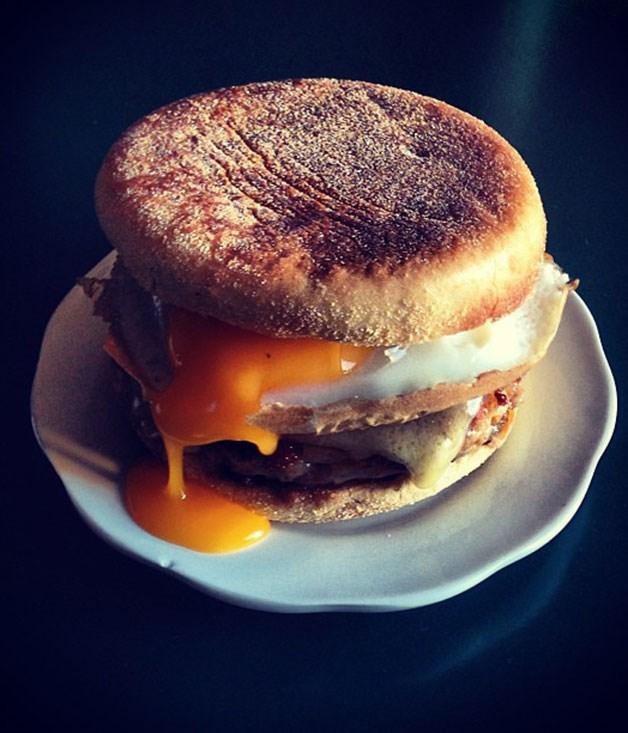 Dan Pepperell's breakfast muffin