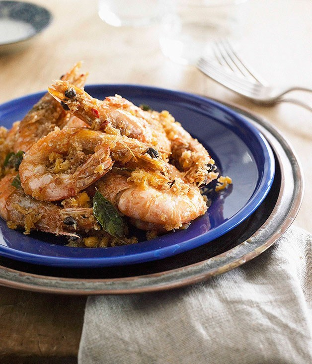 "**[Butter Prawns (Nai yow ha)](https://www.gourmettraveller.com.au/recipes/browse-all/butter-prawns-nai-yow-ha-9595|target=""_blank"")**"