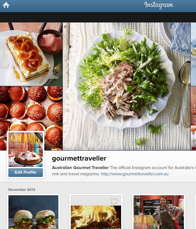 """**** Need a daily fix of _Gourmet Traveller_ on your mobile? Follow us on Instagram [@gourmettraveller](http://www.instagram/gourmettraveller """"Gourmet Traveller"""")."""