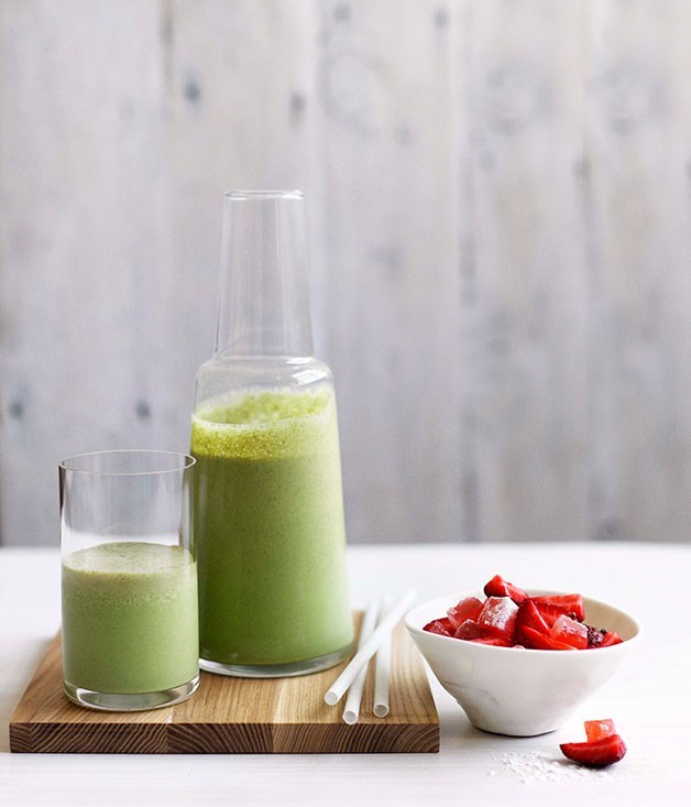 "[**Basil smoothie with strawberries and Turkish delight**](https://www.gourmettraveller.com.au/recipes/chefs-recipes/basil-smoothie-with-strawberries-and-turkish-delight-7782|target=""_blank"")"