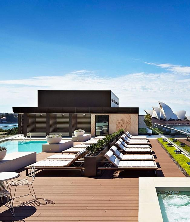 **Park Hyatt Sydney, Australia** [Park Hyatt Sydney's](http://www.sydney.park.hyatt.com/en/hotel/home.html) rooftop pool is the perfect spot to take a plunge and soak up the glory of Sydney Harbour all at the same time.
