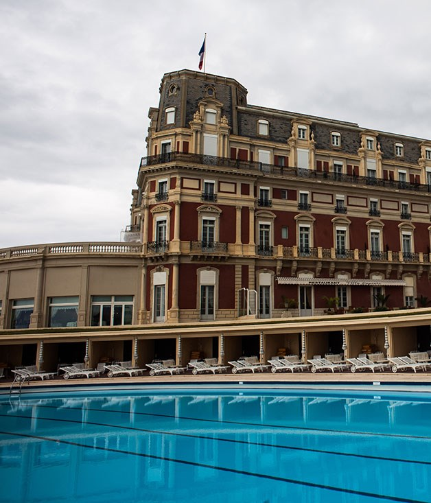 **Hotel Du Palais, Biarritz, France** Winning views? Tick. Private cabanas? Tick. The [Hotel du Palais's](http://www.hotel-du-palais.com/web/hdp/hotel_du_palais.jsp) saltwater swimming pool overlooking Biarritz's Grande Plage is a winner through and through.
