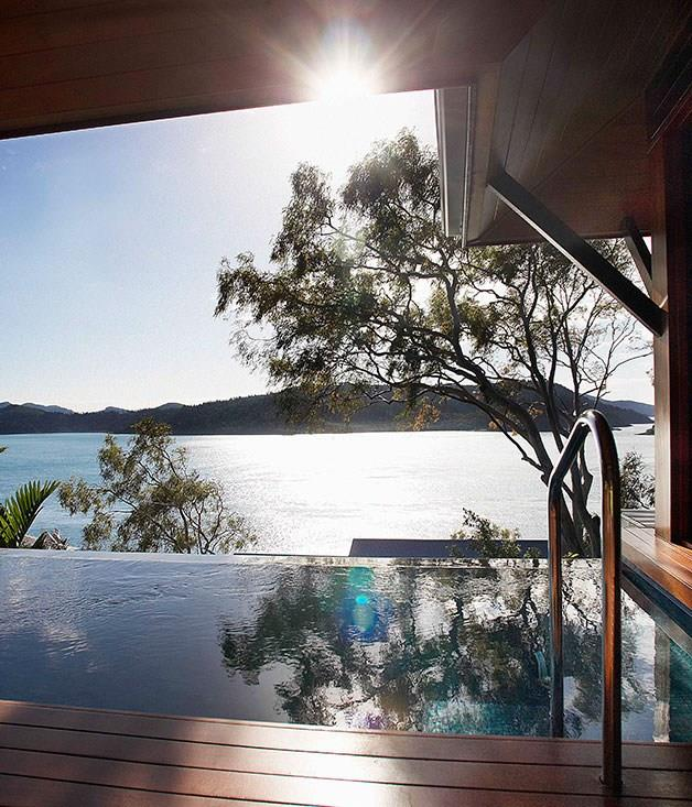 **Qualia, Hamilton Island, Australia** No ordinary plunge - the private in-villa pools at [Qualia](http://www.qualia.com.au/) on Hamilton Island offer unbeatable front-on views of the Great Barrier Reef.