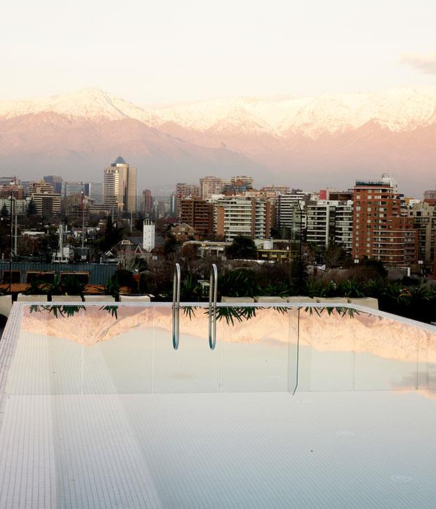 **Noi Hotel, Santiago, Chile** Few views can top the sweeping vistas of the Santiago skyline and Andes mountain range surrounding the rooftop pool at the [Noi Hotel](http://www.noivitacura.cl/en/).