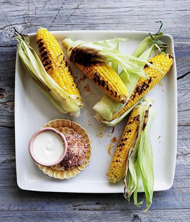 Barbecued corn - corn recipes