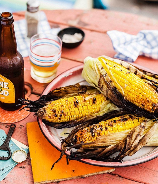 **Char-grilled corn**