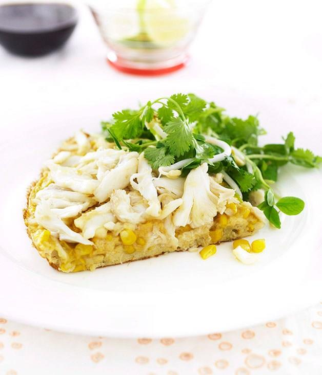 **Crab and corn omelette**