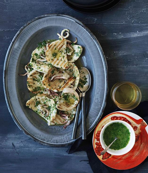 **Chargrilled cuttlefish, garlic and parsley**
