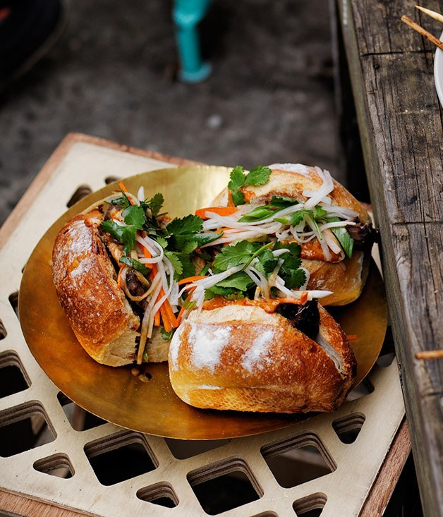**Barbecued beef brisket with banh mi pickles**