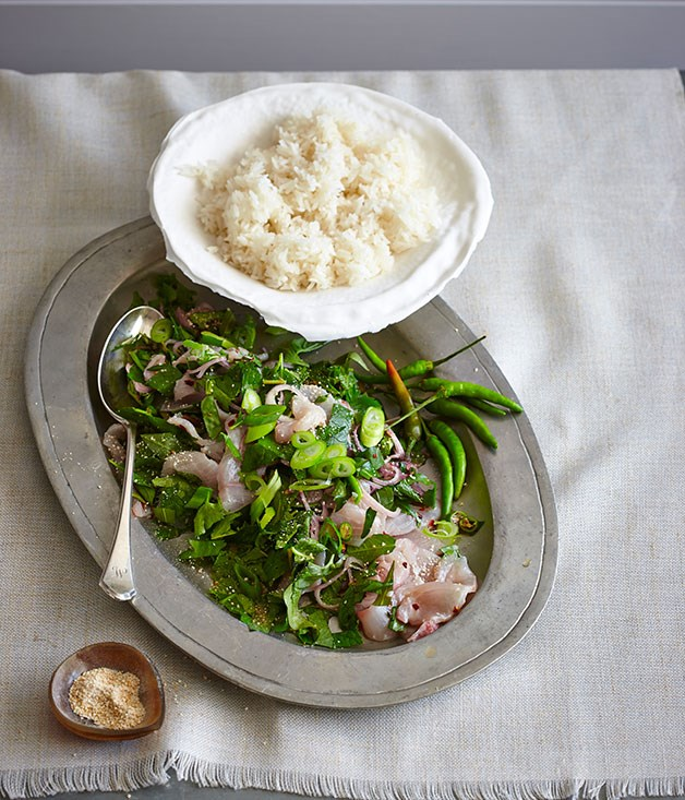 Thai-style raw kingfish salad
