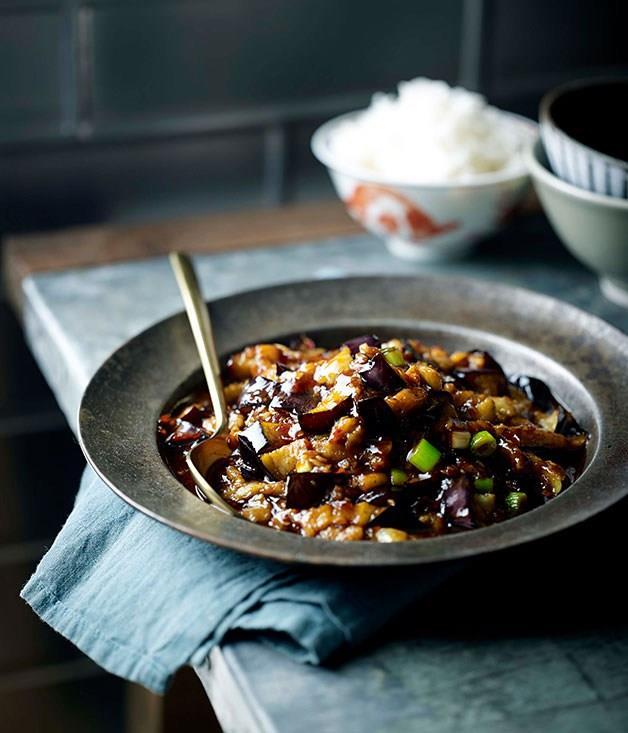 **Fish-fragrant eggplant (Yu xiang qie zi)**