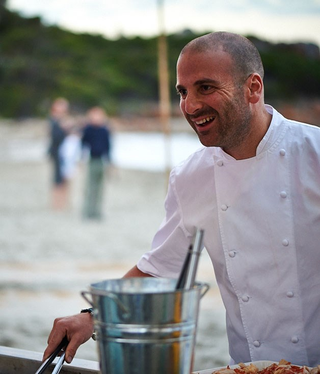 **** George Calombaris on the grill.