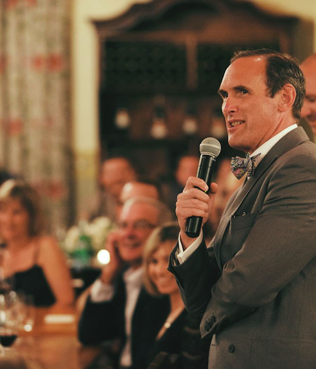 **** AA Gill rocking the microphone at Voyager Estate.