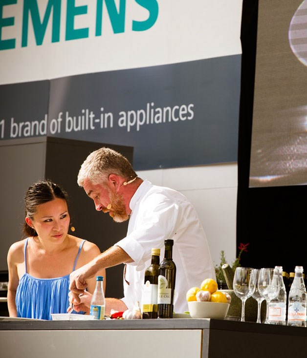 **** Alex Atala and Poh Ling Yeow onstage at the Gourmet Village.