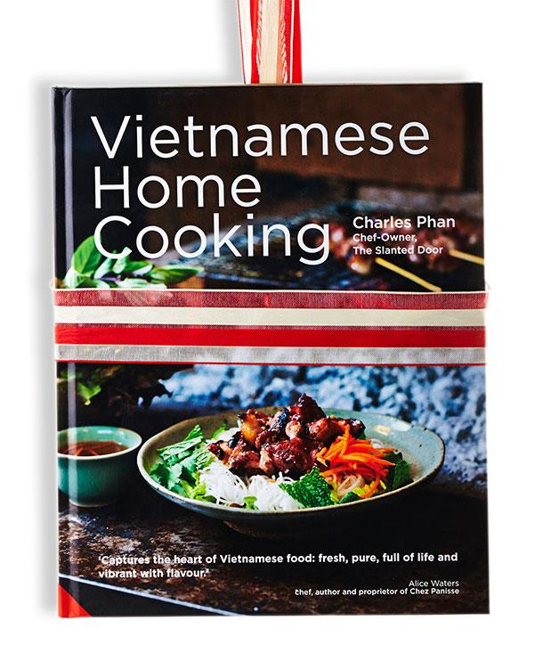 """**Vietnamese Home Cooking** Charles Phan (Jacqui Small, $59.99, hbk)   Charles Phan is best known as the chef and owner of The Slanted Door, the San Francisco establishment that's perhaps the highest-profile Vietnamese restaurant in the US. In this book, though, he's very much in cook-at-home mode, and strikes a balance between authenticity and approachability that's impressive. Asides such as """"nobody wants to fry at home, but everyone likes to eat fried food"""" make it clear that he's on the everyday cook's wavelength, and you want to jump straight in with the likes of clams with crisp pork belly and Thai basil, or pork claypot with young coconut juice, or rachet the challenge up a notch with Hue rice dumplings.   Cookability: 8/10. Readability: 7/10. Pictures: 7/10. Go-to dish: rice crêpes with pork and mushrooms."""