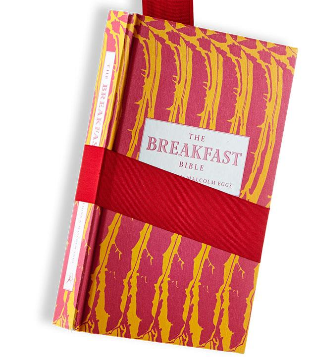 """**The Breakfast Bible** Seb Emina & Malcolm Eggs (Bloomsbury, $30, hbk)   Born from the perhaps not entirely serious London Review of Breakfasts website, the Bible investigates the most important meal of the day with impressive vigour, calling on everyone from Winnie the Pooh to John the Apostle along the way. Its focus is very much on the British breakfast tradition (though churros get a look in, as does congee), but narrow as that field may be, it's mined to great depth, whether it's the subject of breakfast in bed or class at the breakfast table. The art of reading tea leaves gets a chapter, as do the breakfast habits of the late Hunter S Thompson (""""All of which should be dealt with outside... preferably stone naked"""").   Cookability: 7/10. Readability: 9/10. Pictures: 5/10. Go-to dish: the full English."""