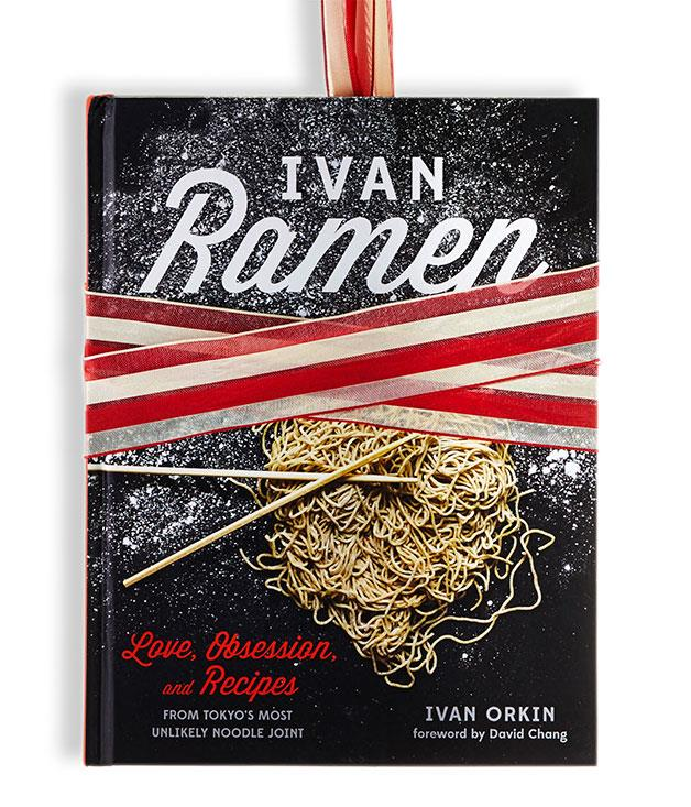 **Ivan Ramen** Ivan Orkin (Ten Speed Press, $55, hbk)   The title tells you everything, in a sense: there's not much more to the book than the story of New Yorker Ivan Orkin and noodle soup. But what a story: the detail on Orkin's mission to make his mark on the Japanese ramen scene is deep, rich and at times even wrenching. Dedicating a whole book of recipes to what amounts essentially to one dish is unusual, to say the least, but in breaking down every element, from the rendering of the fats to the making of the katsuobushi salt, Orkin and co-author Chris Ying present a rewarding picture of this most obsessed-over of soups. Of particular note are the recipes for leftover menma, dashi and chashu (get a load of the pork belly Cubano).   Cookability: 6/10. Readability: 10/10. Pictures: 7/10. Go-to dish: four-cheese mazemen.