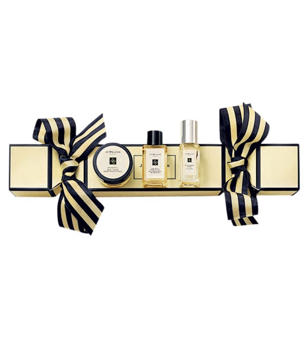 "**Jo to the world** This Christmas-cracker trio of travel-sized [Jo Malone](http://www.jomalone.com.au ""Jo Malone"") surprises includes body crème, body wash and cologne, $60. 1800 661 062."