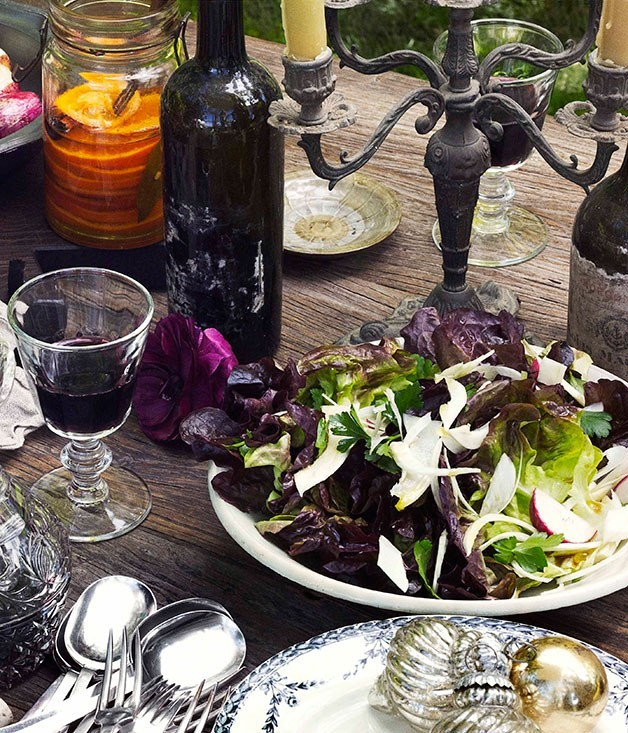 **Red oak, fennel and radish salad with red wine vinaigrette**