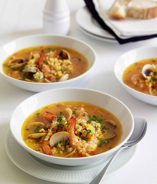 **Seafood and saffron soup**