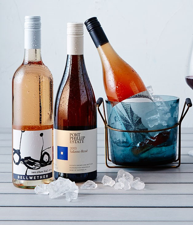 """**PALE DRY PINK WINES** **11 [2013 Bellwether Rosé](http://www.bellwetherwines.com.au """"Bellwether Wines""""), Riverland, SA, $20**   Coonawarra winemaker Sue Bell made this award-winning rosé using nero d'Avola grapes grown by award-winning viticulturist Ashley Ratcliff in the Riverland. Forget the gongs; just revel in the floral scents and creamy texture - and rustle up some seafoody pasta: pipis, prawns, penne and parsley.      **12 [2013 Port Phillip Estate Salasso Rosé](http://www.kooyong.com """"Kooyong""""), Mornington Peninsula, Vic, $24**   Made from the juice of pinot noir grapes, this is the essence of the pale, dry rosé style. It has the barest hint of bronzy pink colour, lovely lifted floral and herbal aromas, gentle flavours of cream and summer berries and a savoury, refreshing tang on the tongue. Great with delicate goat's cheese and cherry tomato tart.      **13 [2013 Smallfry Cinsault Grenache Rosé](http://www.smallfrywines.com.au """"Smallfry Wines""""), Barossa Valley, SA, $25**   This characterful, wild-fruity, savoury rosé is an unfiltered blend of cinsault and grenache juice, made from grapes grown in a biodynamic vineyard in the centre of the Barossa. It's got the guts and texture to cope with some classic regional smoked smallgoods such as mettwurst or biersticks."""