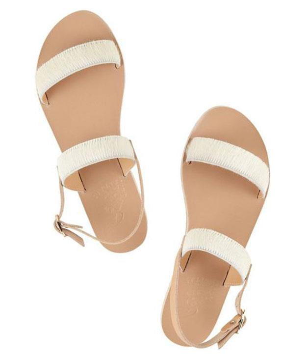 """**Ancient Greek Sandals """"Clio"""" sandals** Who said summer was all about thongs? Put your best foot forward with these leather numbers from Ancient Greek Sandals instead. _$182_, [_net-a-porter.com_](http://www.net-a-porter.com """"Net-a-porter"""")"""