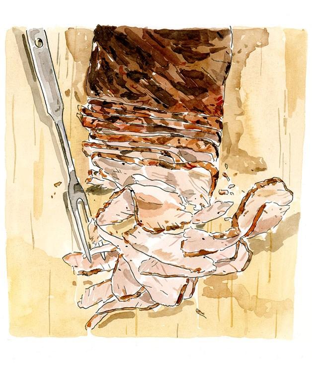 Texas-style barbecue brisket