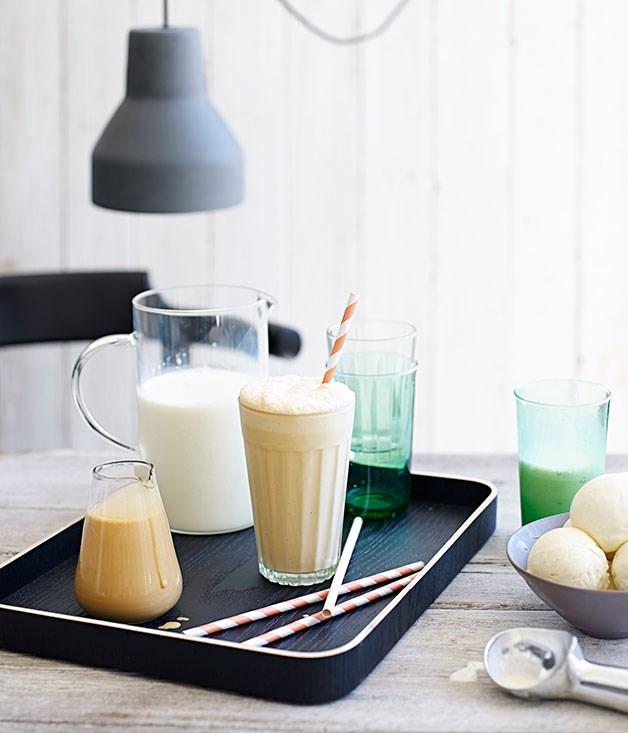 Dulce de leche milkshake