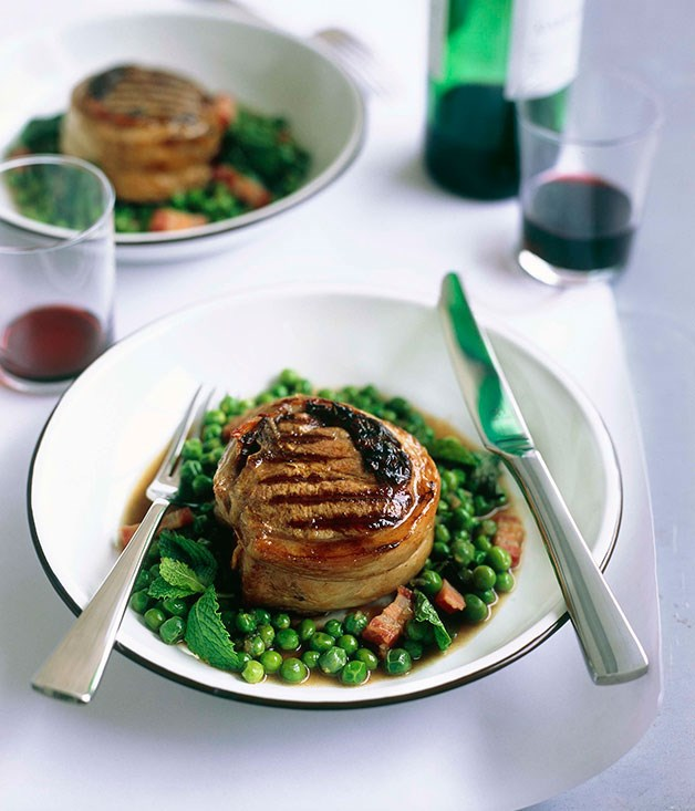 "[**Lamb chops**](https://www.gourmettraveller.com.au/recipes/browse-all/lamb-chops-deluxe-10212|target=""_blank"")"