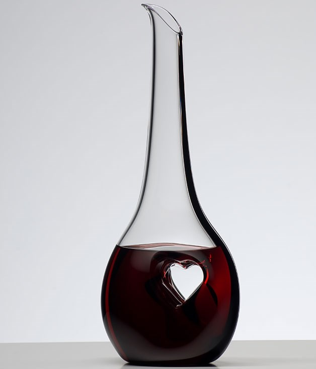"**Riedel ""Black Tie Bliss"" decanter** A love for wine is a love best shared with a friend, and this [Riedel](http://www.riedelglass.com.au/ ""Riedel"") decanter is the ideal accessory to that particular shared intimacy. _$269.95_"