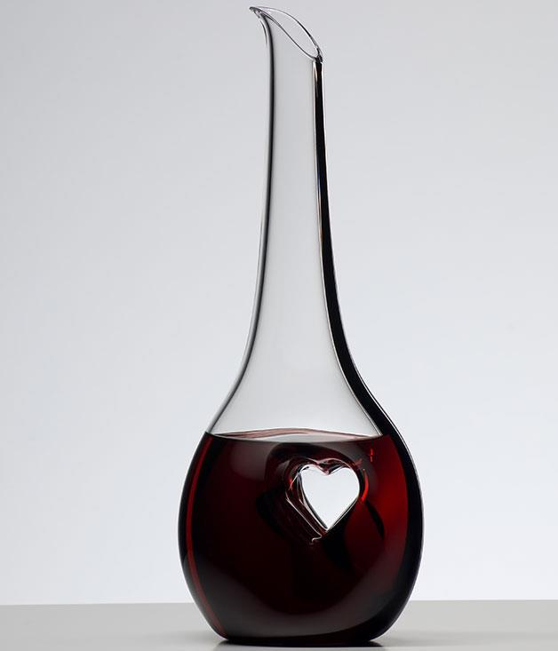 """**Riedel """"Black Tie Bliss"""" decanter** A love for wine is a love best shared with a friend, and this [Riedel](http://www.riedelglass.com.au/ """"Riedel"""") decanter is the ideal accessory to that particular shared intimacy. _$269.95_"""