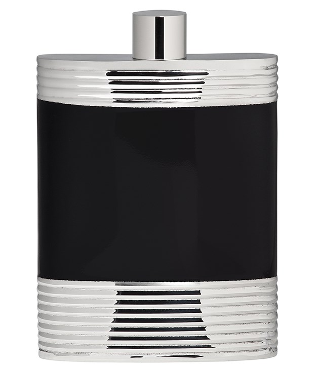 "**Vera Wang Wedgwood ""Debonair"" flask** Special occasions call for special tools, such as this stainless steel and black enamel hip flask from [Wedgwood's](http://www.wwrd.com.au/ ""Waterford"") Vera Wang Debonair Barware collection. _$69.95._"