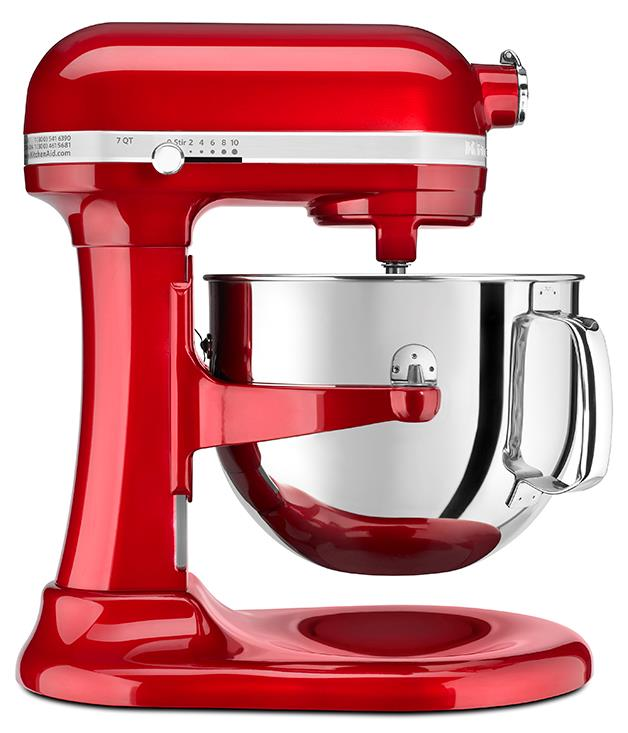 """**KitchenAid Pro Line mixer** Serious bakers will fall head over heels for you and this limited edition KitchenAid Pro Line mixer. It's powered by the mightiest engine in the [KitchenAid](http://kitchenaid.com.au/au/ """"KitchenAid"""") family, and has a massive 6.9-litre capacity for all your cake, bread and pasta dough needs. This candy-apple version is bang-on for Valentine's Day. $1,199.00."""