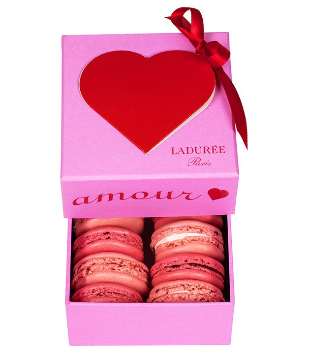 """**Ladurée Valentine's Day box** Looking for a classic love-heart gift box? Macaron mavens [Ladurée](http://www.laduree.com/fr_fr/ """"Ladurée"""") have released a limited-edition Valentine's Day selection to fit the bill perfectly. _$35 for eight macarons._"""
