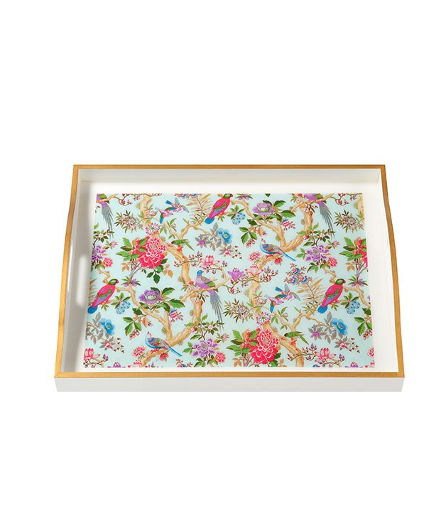 "**Whitelaw & Newton ""Whimsical"" trays** Is breakfast in bed on the Valentine's Day agenda? Present it on one of these pretty printed trays from [Domo](http://domo.com.au/ ""Domo"") for extra brownie points. _$195_."
