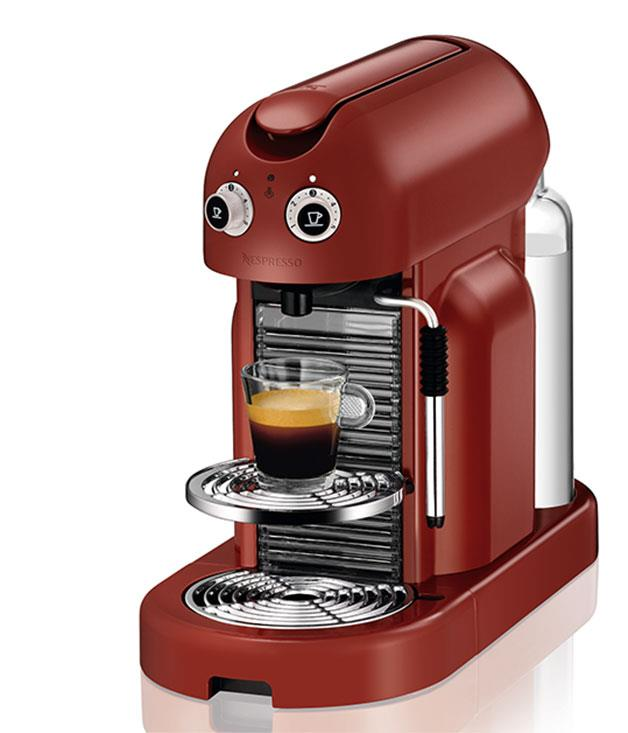 """**Red Nespresso machine** You'll need coffee to go with your breakfast, too. This machine from [Nespresso's](http://www.nespresso.com/au/en/home """"Nespresso"""") retro-styled Maestria range makes it happen with ease. _$749._"""