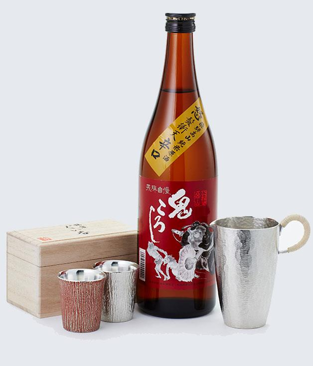 """**Sake gear from Chefs Armoury** Chocolates and flowers not your style? Opt for something a little more unusual, like this new collection of tin sake-drinking implements from Japanese booze and cookware experts [Chef's Armoury](http://www.chefsarmoury.com/ """"Chef's Armoury"""")."""