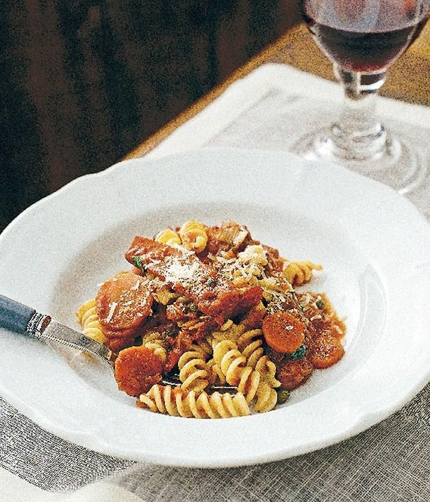 **Fusilli with squid and tomato**