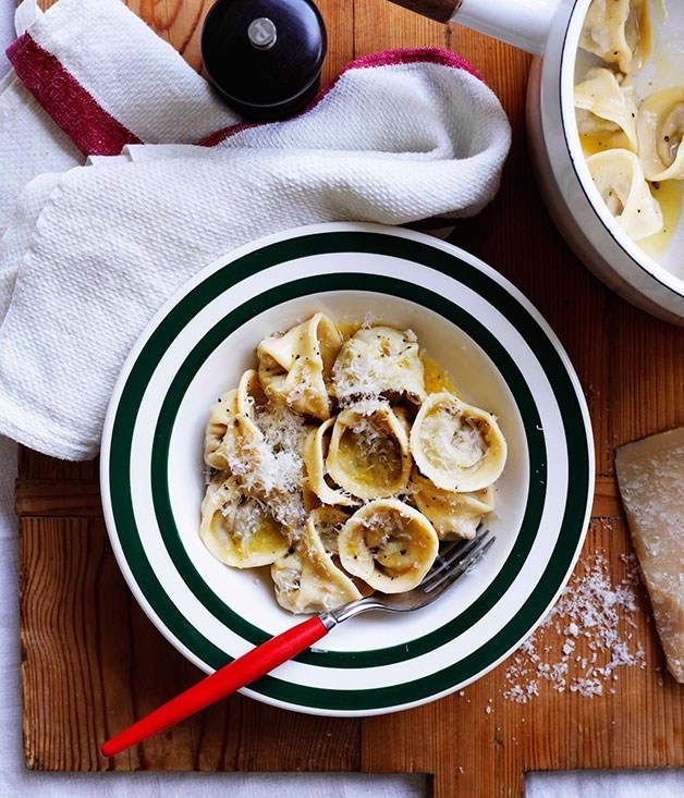 "[**Tortellini Bolognese**](https://www.gourmettraveller.com.au/recipes/browse-all/tortellini-bolognese-8758|target=""_blank"") <br><br>"