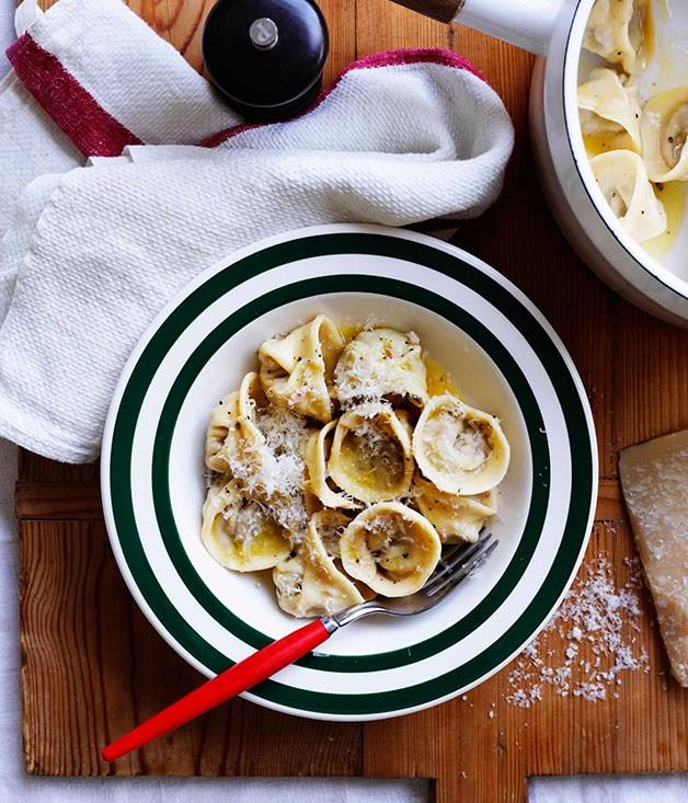 "[**Tortellini Bolognese**](https://www.gourmettraveller.com.au/recipes/browse-all/tortellini-bolognese-8758|target=""_blank"") <br><br>"