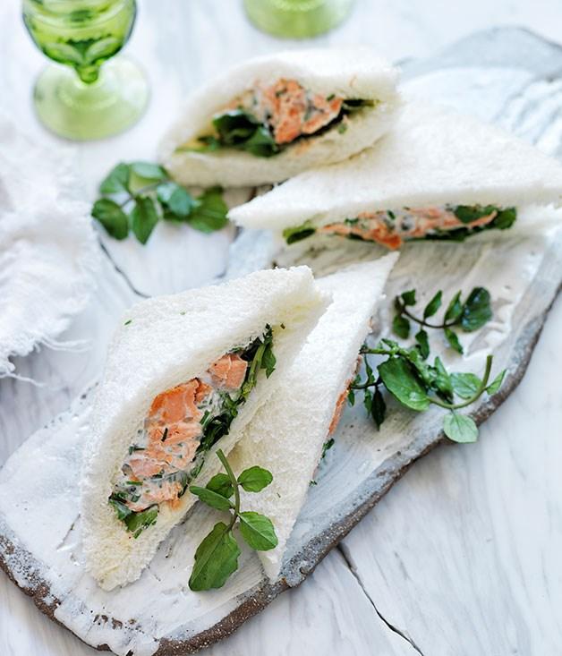 Smoked trout, crème fraîche and caper tramezzini