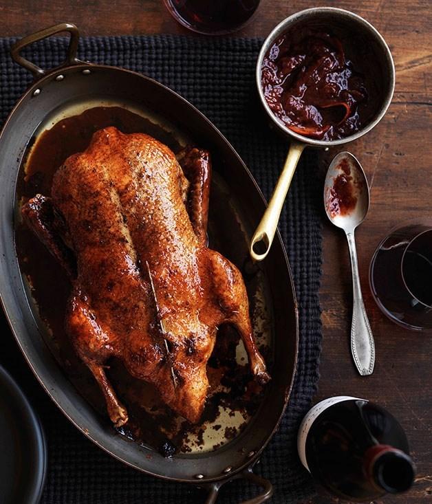 **Roast duck with plum sauce**