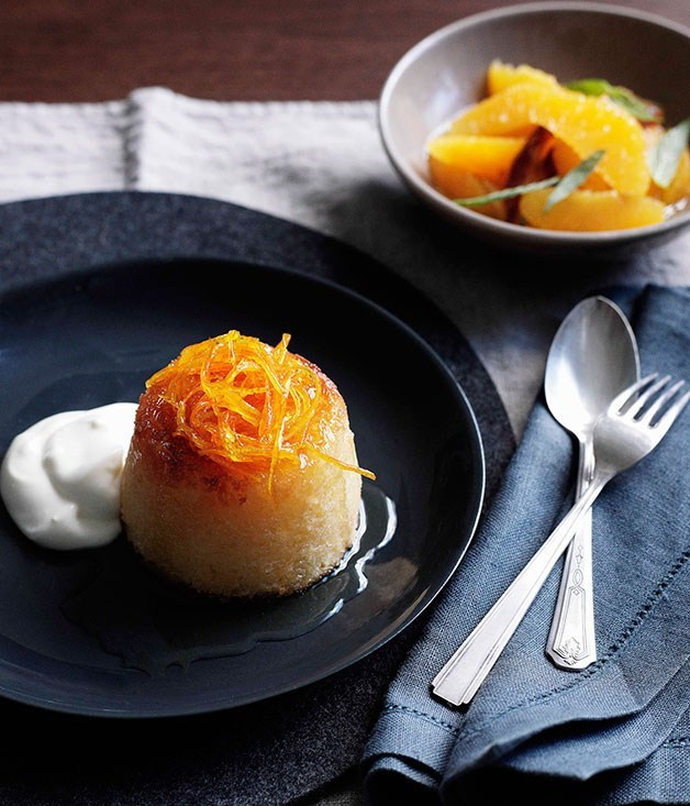 **Yoghurt and orange blossom puddings**