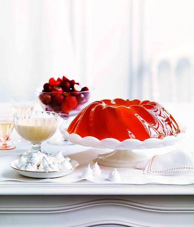 """[**Sparkling vanilla jelly with melon and raspberry salad**](https://www.gourmettraveller.com.au/recipes/browse-all/sparkling-vanilla-jelly-with-melon-and-raspberry-salad-10908