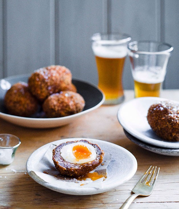 **Scotch eggs** London 2012  Relive London 2012 with a tasty batch of these venison scotch eggs.