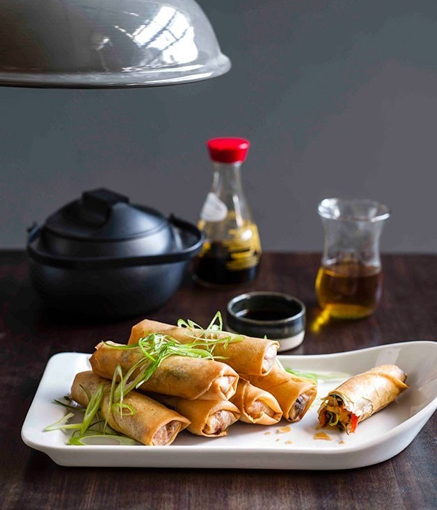 **Chinese spring rolls** Beijing 2008  Channel Beijing with a platter of snack-friendly Chinese spring rolls.