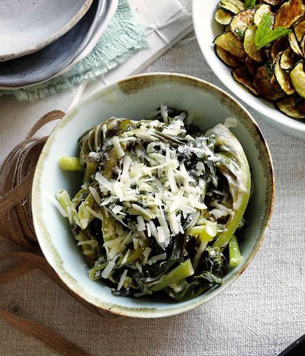 "[**Cavolo con le uova (kale with eggs)**](https://www.gourmettraveller.com.au/recipes/chefs-recipes/cavolo-con-le-uova-kale-with-eggs-7600|target=""_blank"")"