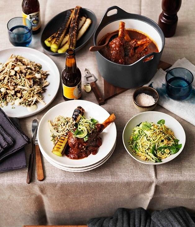 Braised lamb shanks - braising recipes
