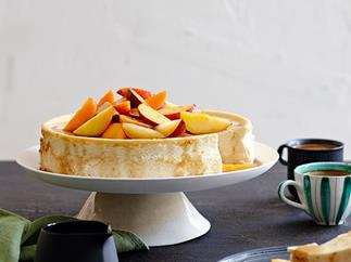 Ricotta cheesecake with end-of-summer fruit
