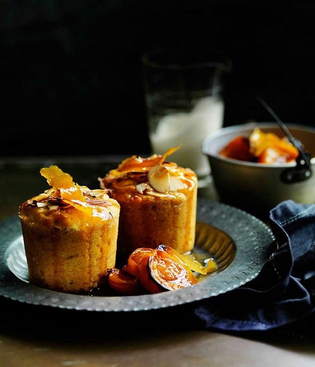 **Roast apricot, almond and quinoa cakes**